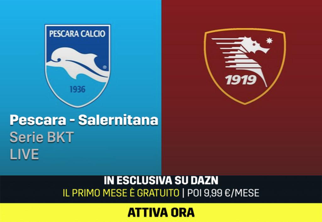 Pescara Salernitana, diretta streaming gratis online: ecco ...